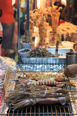 kenting: Street food market, Taiwan , Kenting Stock Photo