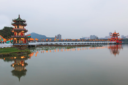 Spring and Autumn Pavilions, Lotus Pond, Kahosiung photo