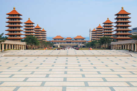 humanistic: Fo Guang Shan buddist temple of Kaohsiung, Taiwan Stock Photo