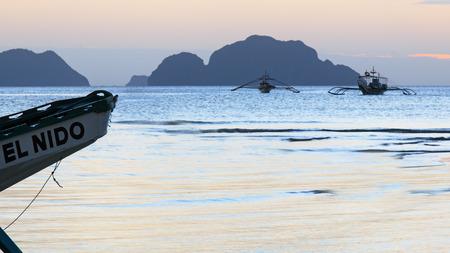 palawan: Sunset at Corong Corong beach, Palawan, Philippines
