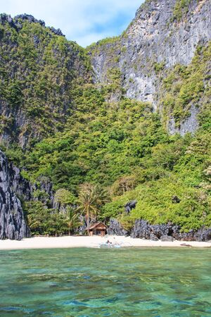 nido: El Nido beach, palawan in the Philippines