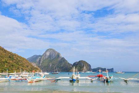nido: El Nido beach, Palawan in the Philippines Stock Photo