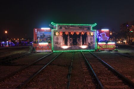 Kaohsiung, Taiwan, February 22, 2015: Lanterrn festival in Kaohsiung, Taiwan by the Pier 2 art center. The Chinese New Year is an important Chinese festival celebrated at the turn of the Chinese calendar.