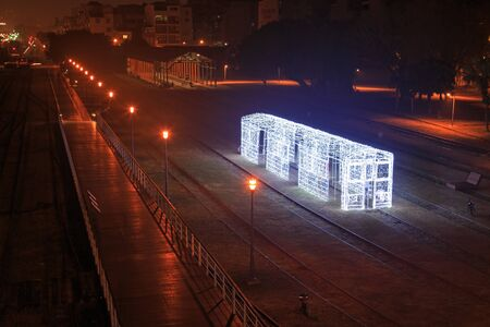 Kaohsiung, Taiwan, February 22, 2015: Lantern festival in Kaohsiung, Taiwan by the Pier 2 art center.