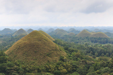 bohol: Panoramic view of the Chocolate Hills in Bohol, Philippines.
