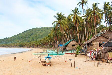 palawan: Beach of Nacpan in Palawan, Philippines