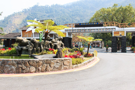 aborigines: Pintung county, Taiwan - February 19,2015: Entrance of the Taiwan Indigenous People Cultural Park Idepicting in Pintung county, Taiwan