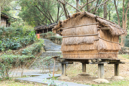 aborigines: Aboriginal Taiwanese home at the Taiwan Indigenous People Cultural Park in Pintung county, Taiwan
