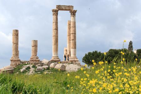 citadel: Amman Citadel ruins in Jordan