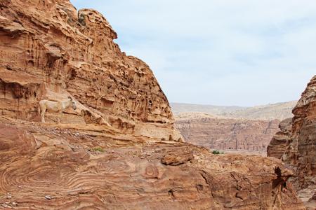 petra  jordan: Mountains of Petra, Jordan Stock Photo