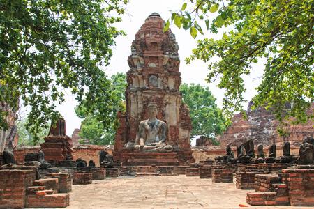 preferable: Wat Maha That in Ayutthaya, Thailand Stock Photo