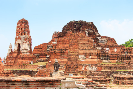 sacked: Wat Maha That in Ayutthaya, Thailand Stock Photo