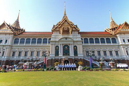 the grand palace: Bangkok, Thailand - April 14,2015: Tourists visiting the the Grand Palace Editorial
