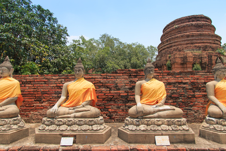 Wat Yai Chai Mongkol in Ayutthaya, Thailand