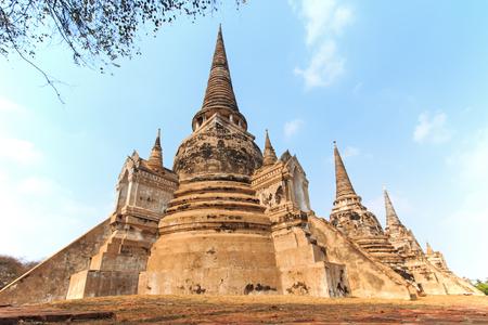 thai temple: Wat Phra si Sanphet in Ayutthaya, Thailand Stock Photo