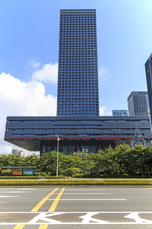 develope: Shenzhen, China - August 19,2015: Stock market building in Shenzhen, one of the three stock markets in China. The others two being Hong Kong and Shanghai. Editorial
