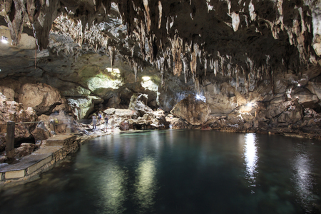 dark cave: Hinagdanan cave in Panglao, Bohol, in the Philippines