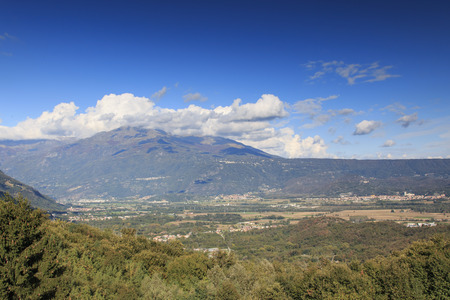 ice age: Panoramic view of the Serra of Ivrea, a long hill created during the last ice age Stock Photo