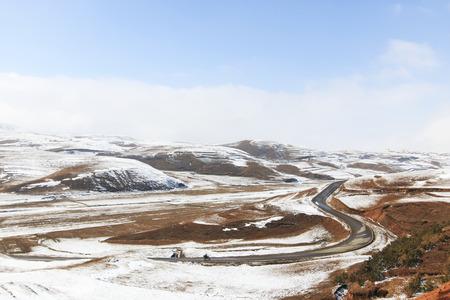 bao: Winter landscape in Da Shan Bao mountains in Yunnan, China Stock Photo