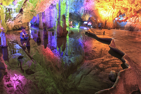 Cave in the Jiuxiang scenic region in Yunnan in China. Thee Jiuxiang caves area is near the Stone Forest of Kunming
