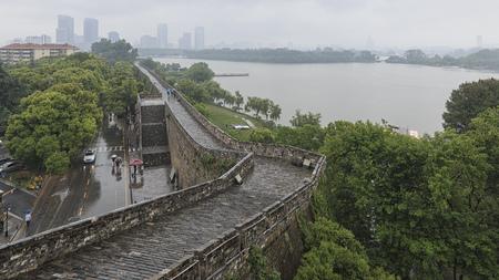 Nanjing, China - May 5, 2018: Xuanwu lake in Nanjing as seen from the walls 版權商用圖片