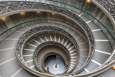 Vatican, Rome, Italy - June 7, 2018: Staircase in Vatican Museums in the Vatican City , Rome , Italy . The double helix staircase is is the famous travel destination of Vatican designed by Momo