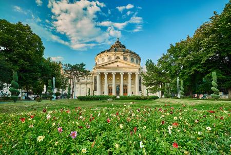 BUKAREST, RO, Juli 2015: Athenaeum-Gebäude in Bukarest. Editorial