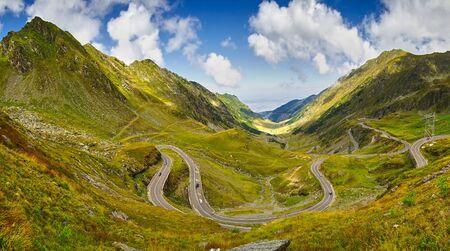 winding: Transfagarasan Mountain Winding Road Stock Photo