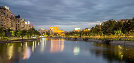 Bucharest Parliament Palace at Night
