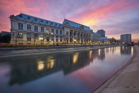 Bucharest Sunset. The Palace of Justice.