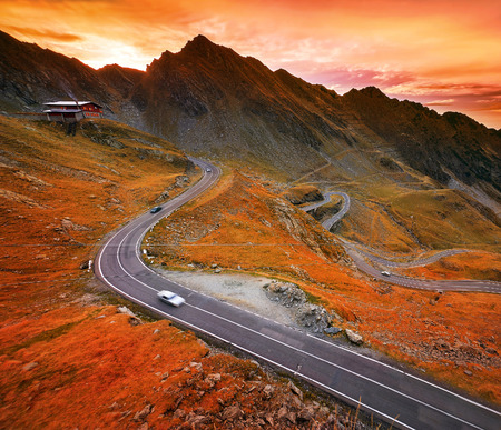 transfagarasan: Transfagarasan winding highway in Fagaras Mountains, Romania.