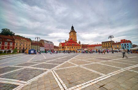 brasov: Brasov, Romania, Aug 2015: Sfatului Square