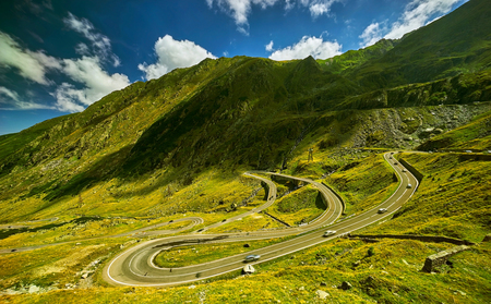 transfagarasan: Transfagarasan Mountain Highway Landscape in Romania.