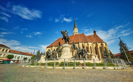 saint michael: Cluj-Napoca, RO, Aug 2015: City center -- Saint Michael Chruch