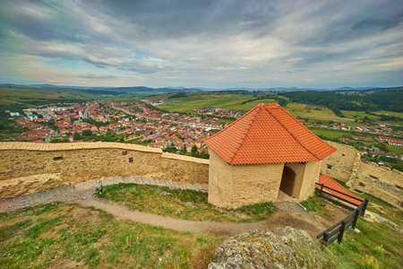 transylvania: Aerial View from Rupea Medieval Fortress in Transylvania.