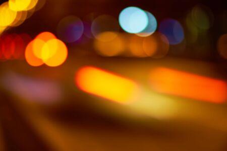 night traffic: Lens Blur Colorful Bokeh Night Traffic Background