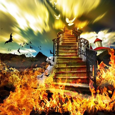 heaven and hell: Stairway from Hell to Heaven