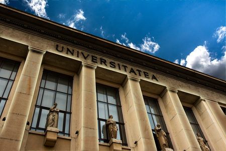 faculty: University of Bucharest, Faculty of Law building.