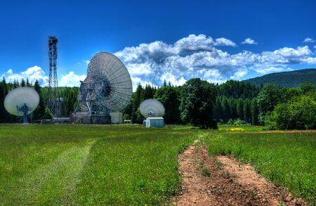 antennas: Telecommunication antennas in the mountains. Stock Photo