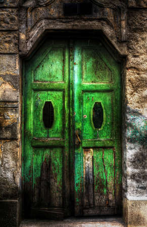 green door: Green door on an old building.