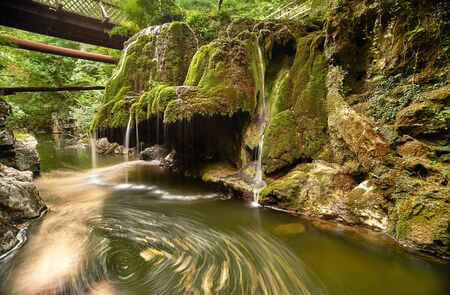 cataract waterfall: Bigar Waterfall Landscape in Romania