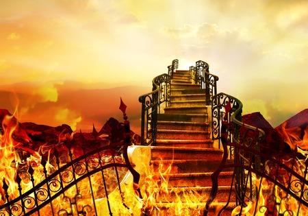 地獄から天国への階段 写真素材