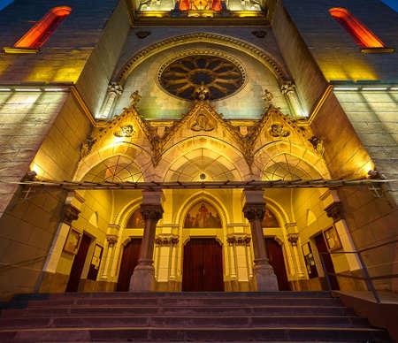 roman catholic: Roman Catholic Cathedral Elisabetin in Timisoara, Romania. Stock Photo