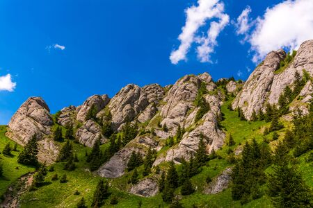 massif: Zaganu mountain in Ciucas Massif, Romanian Carpathians. Stock Photo