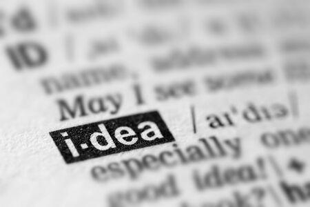 definicion: Idea definición de la palabra en el diccionario de texto Página
