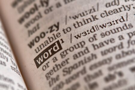 definition: Word Definition Text in Dictionary Page