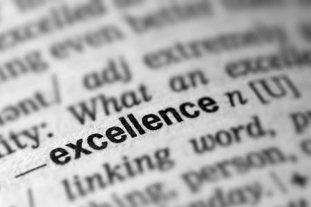 definicion: Excellence Definition Word Text in Dictionary Page Foto de archivo