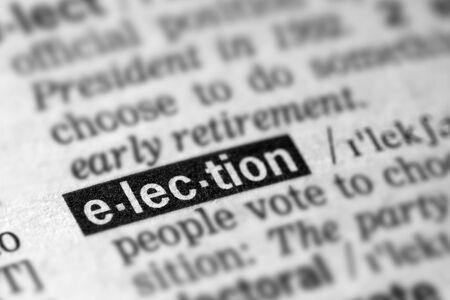 definicion: Definici�n elecciones palabra en el diccionario de texto P�gina Foto de archivo