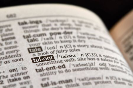 definition: Talent Word Definition Text in Dictionary Page