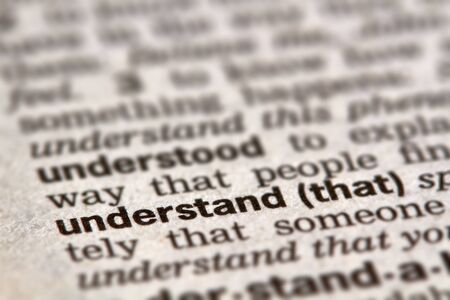 understand: Understand Word Definition Text in Dictionary Page Stock Photo